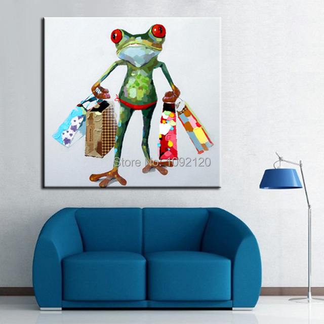 Hand Painted Wall Art Picture Oil Painting On Canvas High Quality Paintings The Frog Ping Home