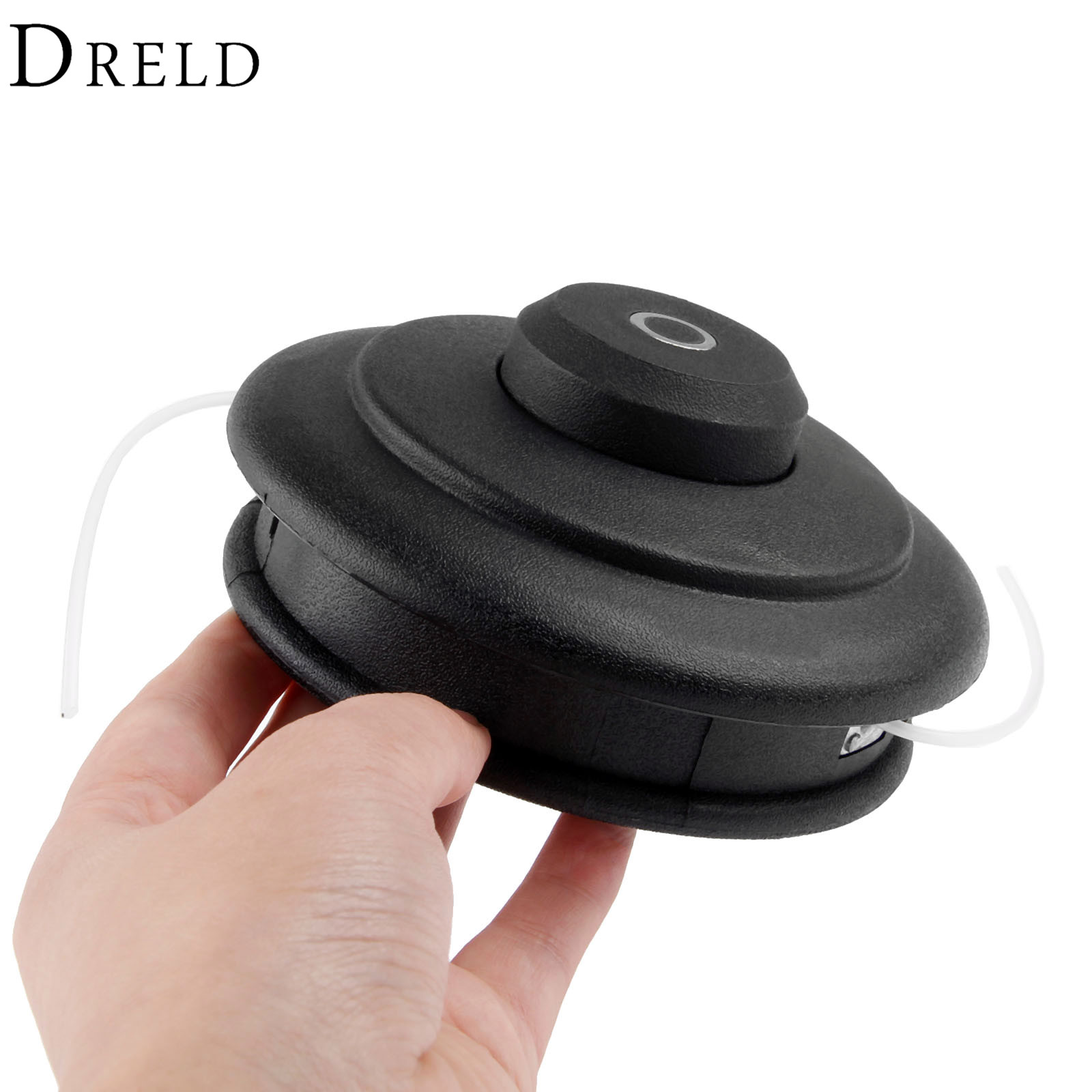 DRELD Nylon Trimmer Head Adaptor M10*1.25 Double Trimmer Line Bump and Go For Garden Use Grass Trimmer Head Garden Tool Parts dreld 125 80mm nylon bump feed line grass trimmer strimmer head garden accessories supplies for lawn mower garden tool parts