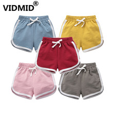 VIDMID boy girls cotton shorts clothes kids striped shorts trousers cartoon children's clothing trousers boy girl shorts 7042 09 format kids boy 16