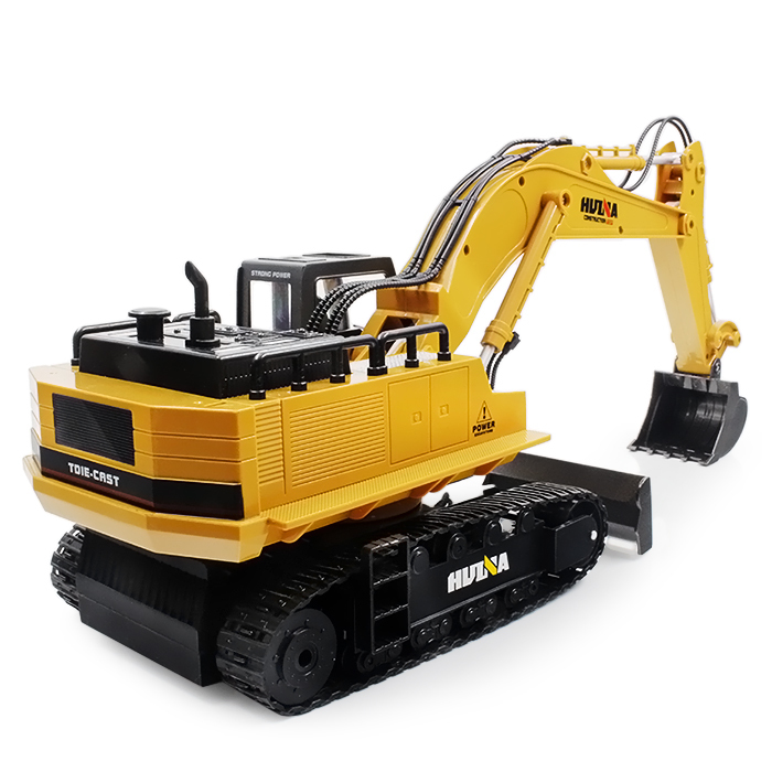 1510 Excavator Car 2.4G 11CH Metal Remote Control Engineering Digger Truck Model Electronic Heavy Machinery Toy rc excavator 15ch 2 4g remote control constructing truck crawler digger model electronic engineering truck toy радиоуправляемые ма