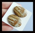 Picture Jasper Cabochon Pair,25x19x4mm,5.7g