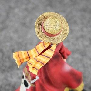 Image 5 - Anime Een Stuk Monkey D Luffy De Ultieme Koning Ver. Rode Mantel Pvc Action Figure Op Luffy Collectible Model Toy 18 Cm