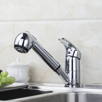 Good 8401 Wholesale And Retail Chrome Solid Brass Water Power Kitchen Faucet Swivel Spout Pull Out