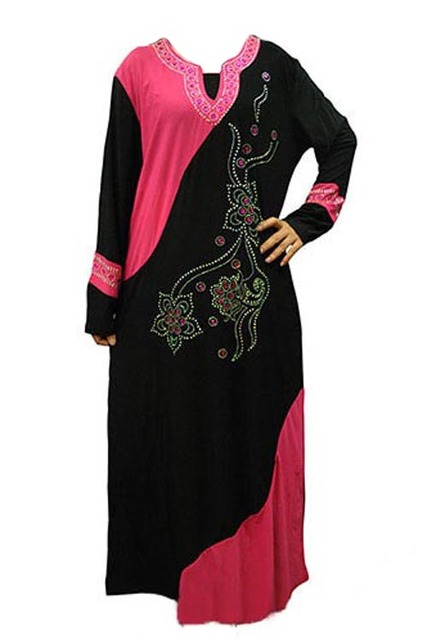 New Muslim black abaya Islamic clothing for women traditional embroidery muslim dress turkish women clothing