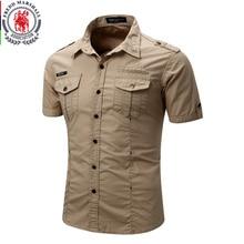 Mens Shirt 2019 New Men Cargo Shirt Fashion Casual Shirt Summer Style 100% Cotton Solid Mens Casual Shirt Plus Size S 3XL 55888