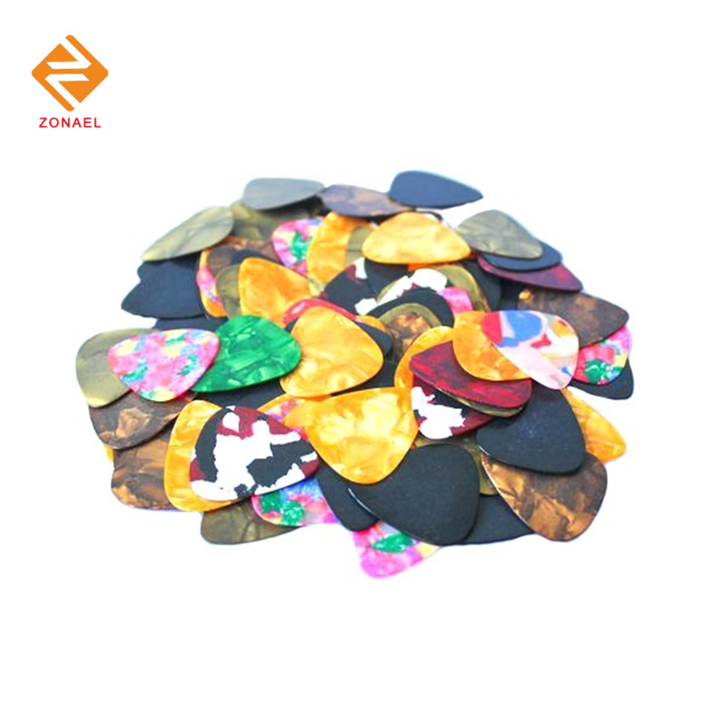 10 pieces 0.46 mm-1.50mm Celluloid Guitar Pick Mediator for Acoustic Electric - 10 Colors Custom Musical instrument Part Strings 6 pcs alice triangle guitar pick material celluloid mediator for acoustic electric guitarra thickness 0 46 mm 1 50 mm