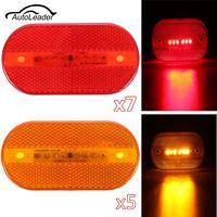 12Pcs Red Amber 6LED Car Trailer Tail Light Side Light 2 X 4 Surface Mount Clearance