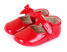 Hot!!100 genuine leather sheepskin baby  mary jane red for wedding christenning gift new born soft sole indoor outdoor