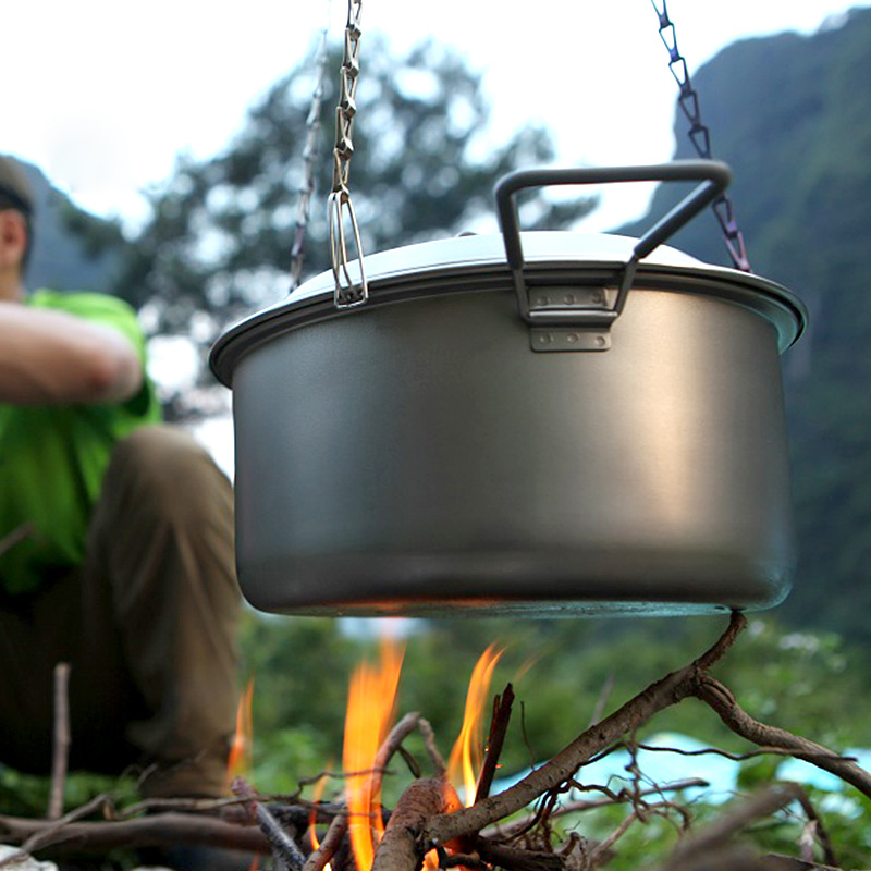 Keith Metal Hanging Pot Cookware Pots Outdoor Camping Accessories Cooking Chain
