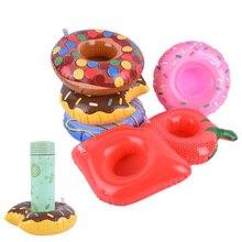 Мини-плавающий держатель для чашки, бассейн, водные игрушки, вечерние лодки для напитков, детские игрушки для бассейна, надувной милый держатель для напитков, 10 видов