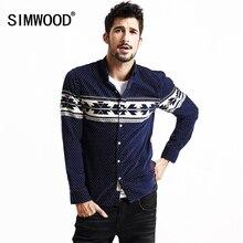 SIMWOOD 2016 Neue Herbst Winter Langarm Casual Shirts Männer Mode Baumwolle Slim Fit Marke Druck Plus Größe CS1559