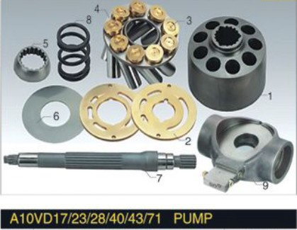 Remanufacturing or repair Uchida Piston Pump A10VD40 spare parts cylinder block valve plate hyvst spare parts prime spray valve for spx150 350 1501013