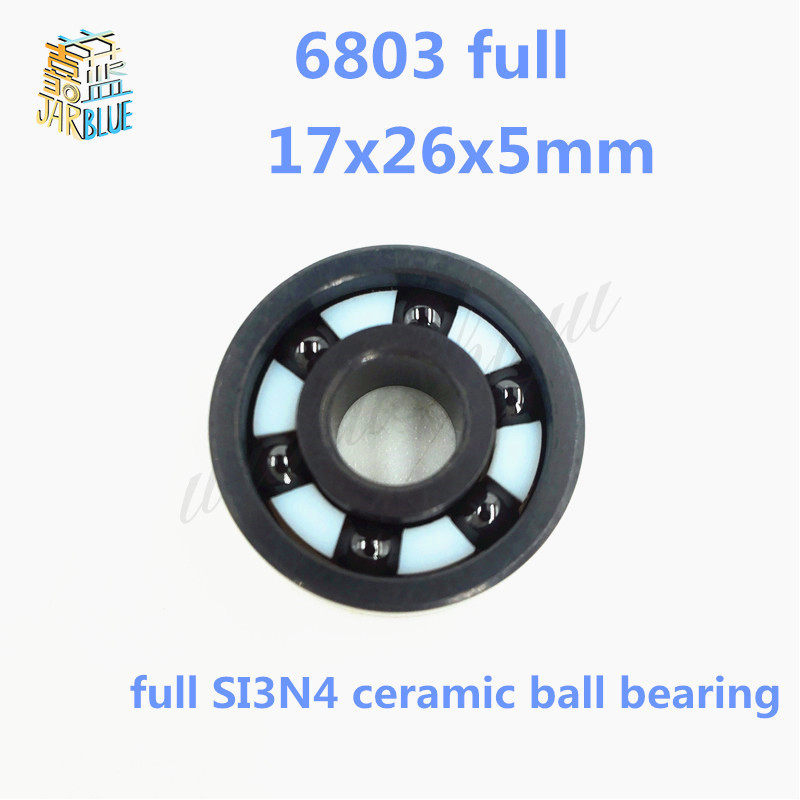 Free shipping 6803 full SI3N4 ceramic deep groove ball bearing 17x26x5mm 61803 bearing P5 ABEC5 free shipping 6000 full zro2 ceramic deep groove ball bearing 10x26x8mm p5 abec5