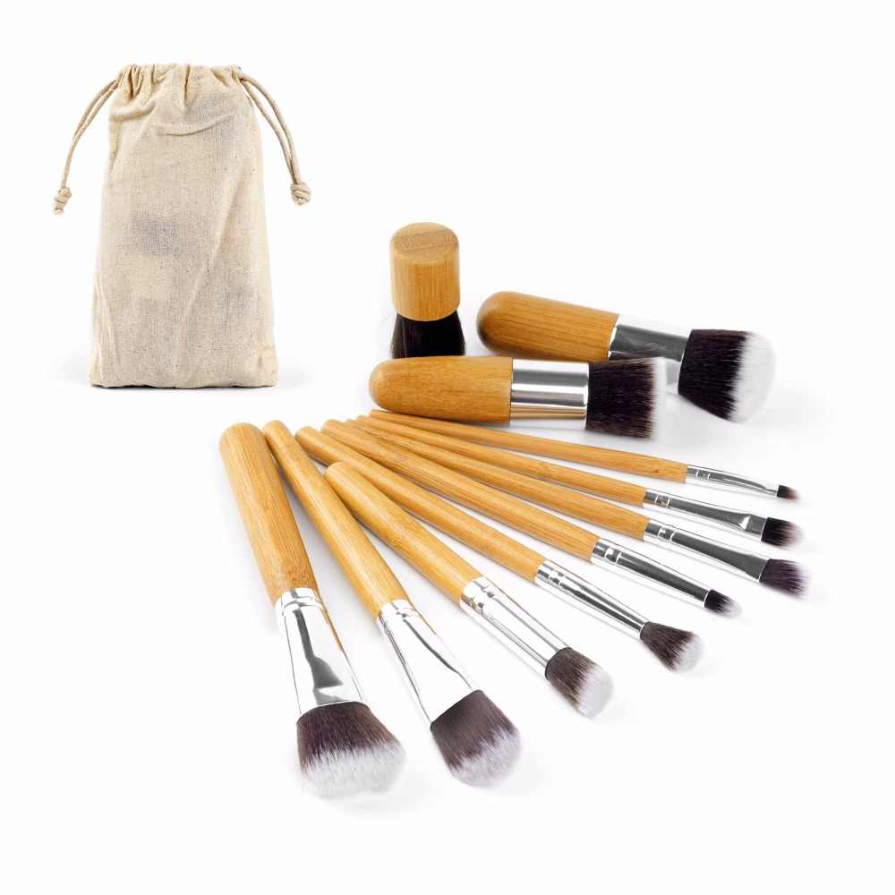 c872d695403b1 4 11Pcs Bamboo Handle Makeup Brushes Set Foundation Powder Blending Brush  Kwasten Concealer Beauty Tool