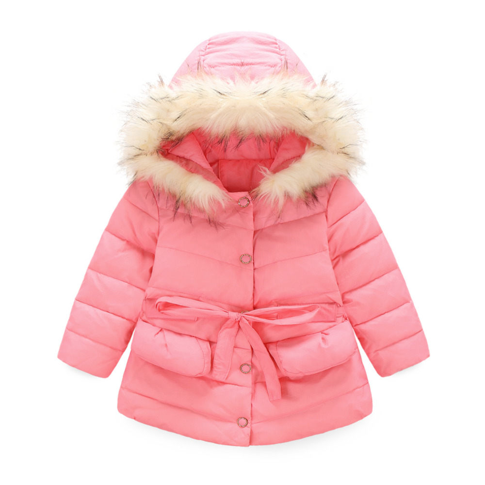 Autumn Winter Latest Children Cotton Down Jacket Girls Flounced Hooded Coat Outwear Kids Warm Thick Clothes 2016 winter thick down jacket fashion girls boys cotton hooded coat children s jacket warm outwear kids casual outwear 16a12