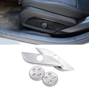 Image 5 - For Mercedes Benz E C GLC GLS Class W212 W205 Carbon Fiber Texture 2pcs Car Interior Seat Adjust Panel Switch Button Cover