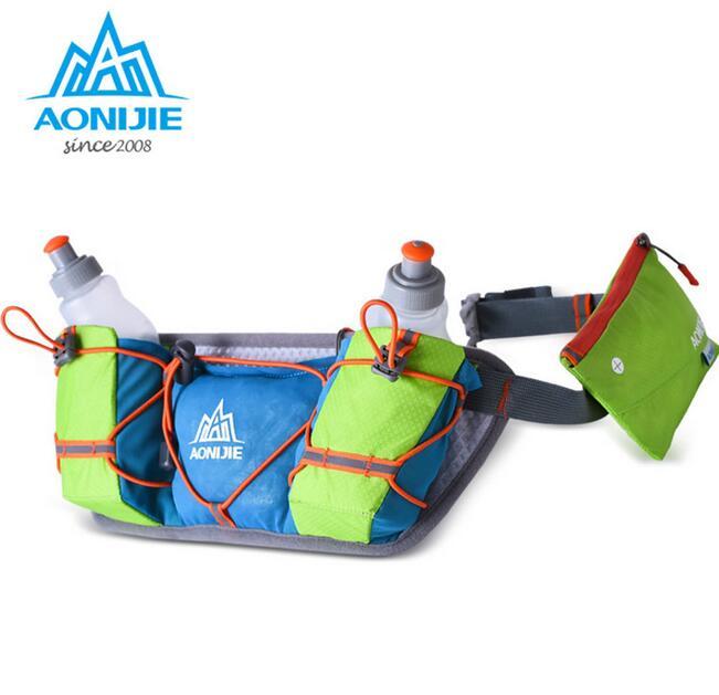AONIJIE Women Men Outdoor Lightweight Men Women Running Water Bottle Waist Bag Outdoor Sports Marathon Running Hydration Belt