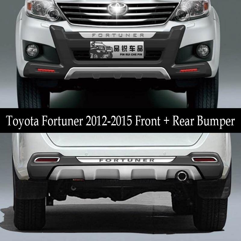 JIOYNG подходит для Toyota Fortuner 2012 2015 Передний + задний бампер рассеиватель бамперов для губ защитная накладка ABS 2 шт.