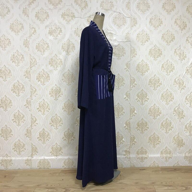 F8859 2019 abaya muslim Simplee Elegant  women Pocket dress Summer casual