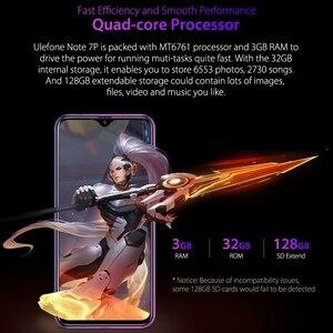 """Image 4 - Ulefone Nota 7P Del Telefono Mobile Android 9.0 Cellulare 6.1 """"MT6761VW Quad Core 3GB + 32GB Viso ID 3500mAh Smartphone 3 Posteriore Telecamere"""