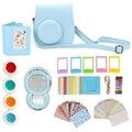 7 en 1 accesorios de la cámara de película instantánea paquetes para fujifilm instax mini 8 (caso/Etiqueta/Álbum/Cuadros/Lente/Filtros/Correa