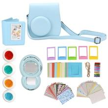 7 in 1 for Fujifilm Instax Mini 8 Instant Film Camera Accessories Bundles Case/ Sticker/ Album/ Frames/ Lens/ Filters/ Strap