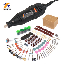 цены Electric Mini Drill for Dremel Drill 220V diy 361pcs Rotary Tool Accessories Power Tools for Cutting Grinding Carving Polishing