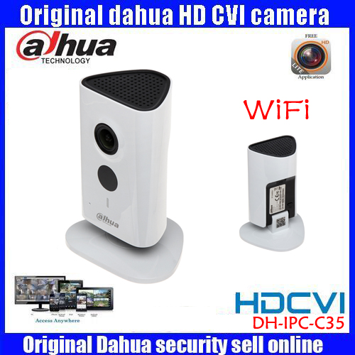 Newest Dahua 3mp Wifi IP Camera IPC-C35P HD 1080p Security Camera Support SD card up to 128GB built-in Mic English version newest dahua 3mp wifi ip camera dh ipc c35p hd 1080p security camera support sd card up to 128gb built in mic english version
