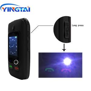 Image 5 - オリジナル YINGTAI T22 3 グラム MTK6276 GPRS MMS 大プッシュボタンシニア電話デュアル Sim デュアルスクリーンフリップ携帯電話高齢者のための 2.4 インチ
