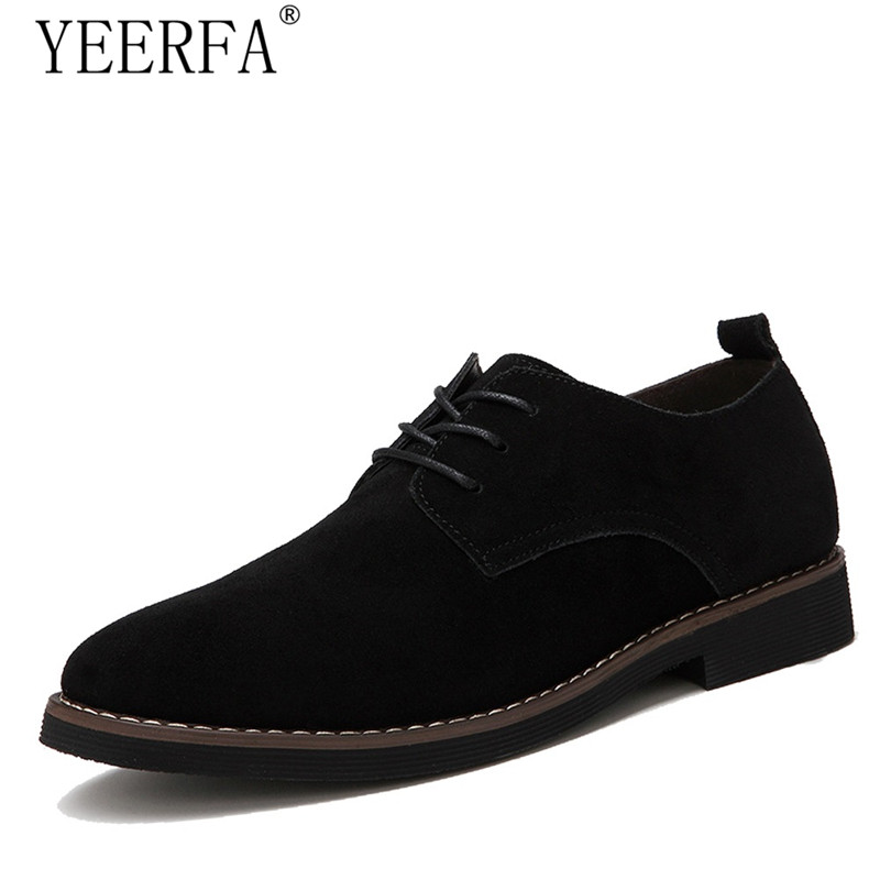 YIERFA PU Leather Shoes for Men Casual Oxfords New Arrival High Quality Fashion Cow Suede Leather Flats Luxury Brand Moccasins dxkzmcm new men flats cow genuine leather slip on casual shoes men loafers moccasins sapatos men oxfords