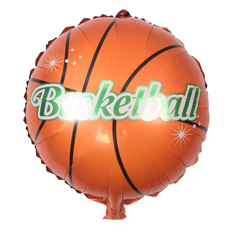 5 pcs/lot 18'' Round Basketball Football Foil Balloons Decorating Children's Party  CA