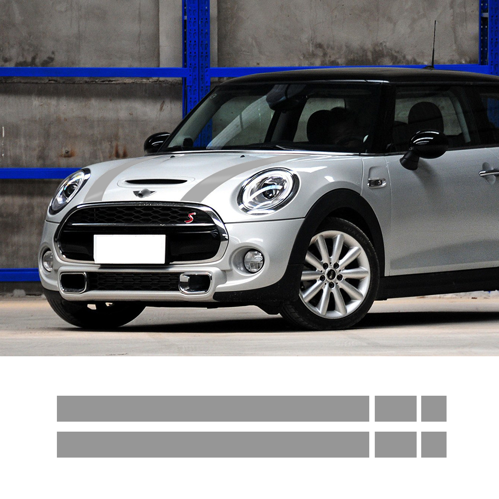 Car hood trunk Engine cover rear vinyl decal bonnet stripe stickers for mini cooper f55 2015 2016 f56 2014-2016 for mitsubishi outlander 2013 2014 2015 rear trunk security shield cargo cover high qualit car trunk shade security cover