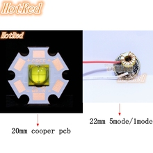 NEW 1 Set 6V ETI 7070 15W White LED With driver Emitter Diode instead of MKR MCE XHP50 Cool White LED with 20MM Copper PCB