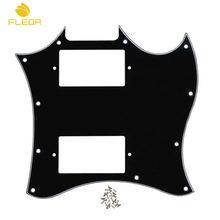 Placa de risco para violão fleor 3ply, placa preta com parafusos para rascunho peças de guitarra