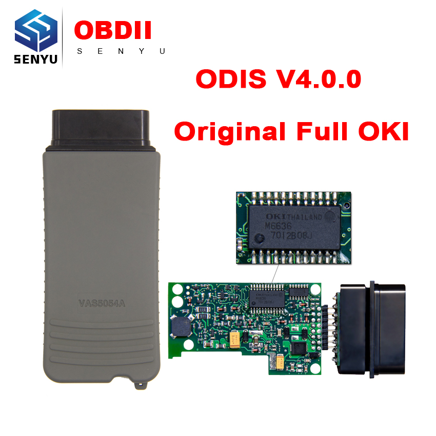 Цена за 2017 VAS5054A ODIS V4.1.3 инструмент диагностики VAS 5054a Bluetooth Оригинальный Полный OKI чип 4.0.0 Поддержка для Audi/Seat/ SKODA/VW