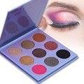 DE'LANCI 9 Color Mate Shimmer Eyeshadow Palette Pigmento Profesional Cosmético Del Maquillaje Belleza Neutral de sombra de Ojos En Polvo
