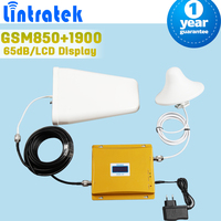 LCD Display GSM 850 1900 Cellular Signal Repeater GSM 3G UMTS 850mhz 1900mhz Dual Band Cellphone