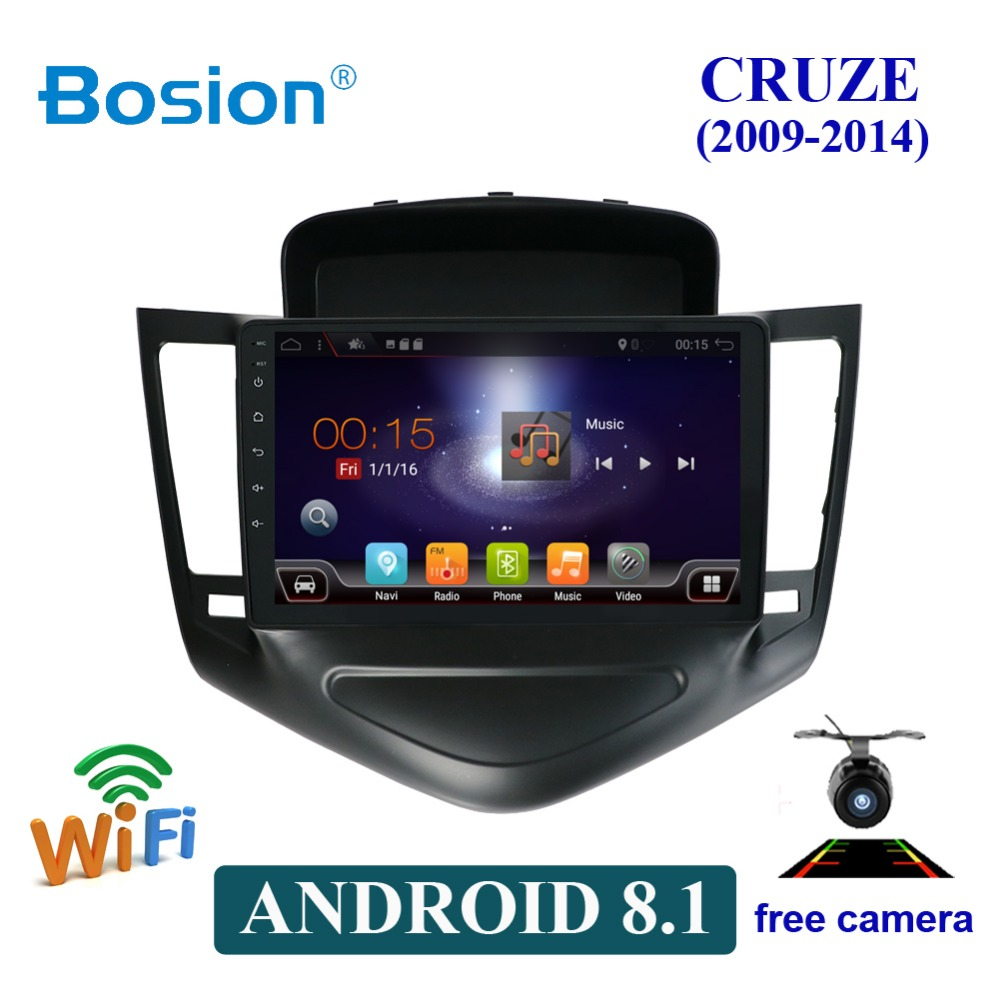 2 din Android 8.1 lecteur dvd gps de voiture pour Chevrolet Cruze 2009-2014 avec radio gps navigation support miroir lien volant