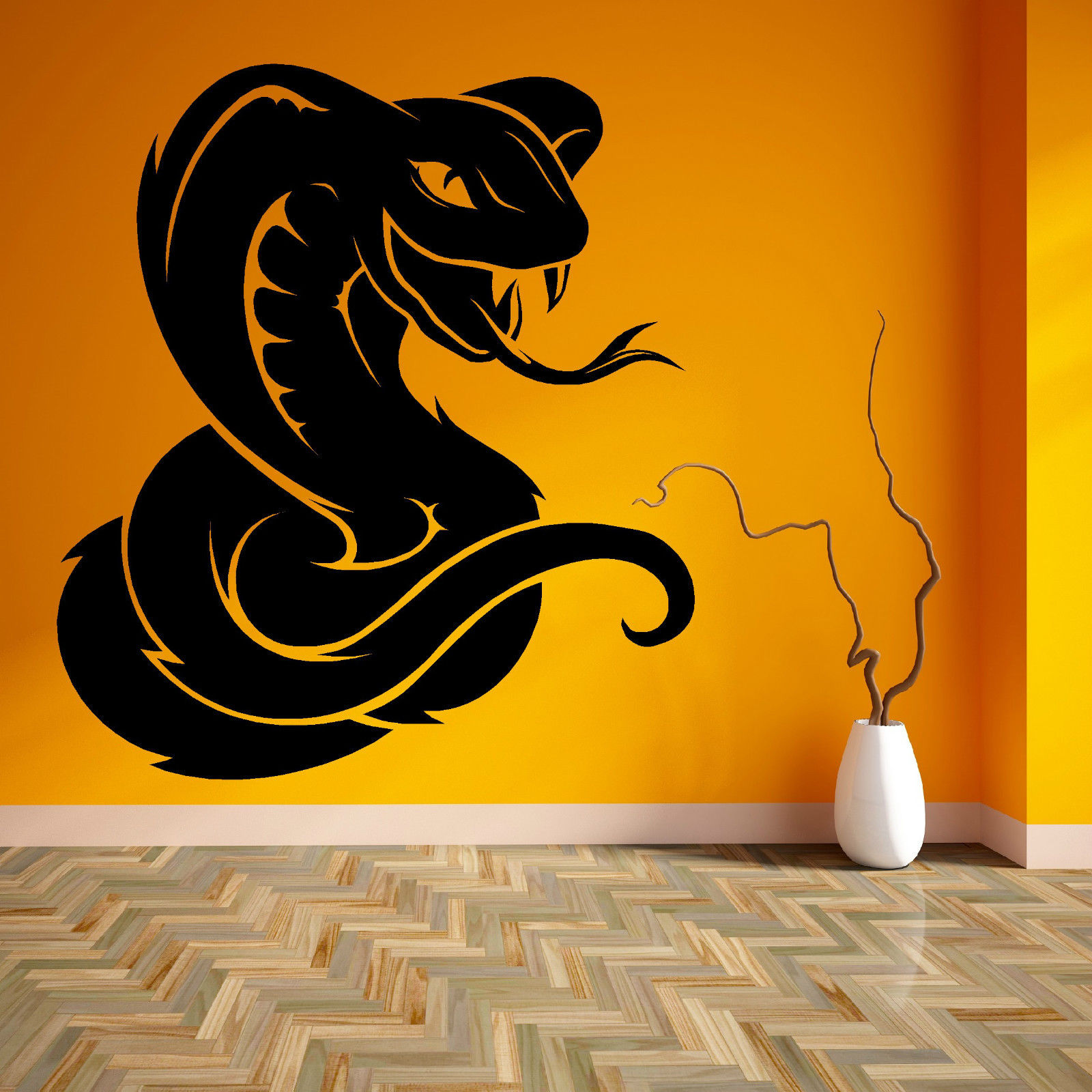 ZN G148 KING COBRA SNAKE Vinyl wall art sticker room decal Boys ...
