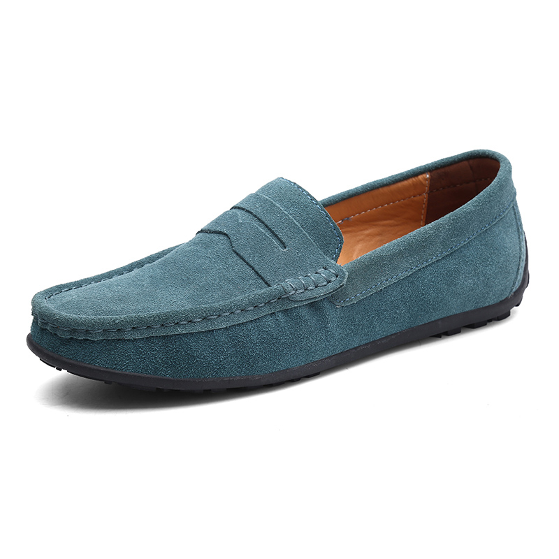 Men Casual Shoes Fashion Male Shoes Suede Leather Men Loafers Leisure Moccasins Slip On Men's Driving Shoes Large Size 6.5-11 #6
