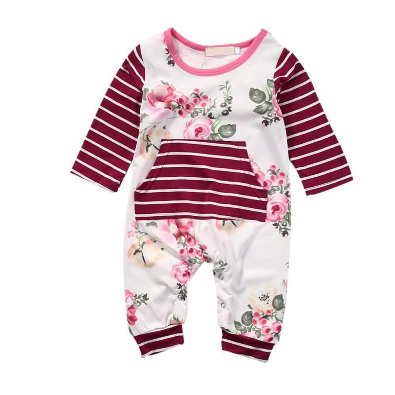 Baby Newborn Jumpsuits & Rompers Baby Product Boy Girl Clothes Long Sleeve 2017 Summer Baby Romper infinity kids 32134510002