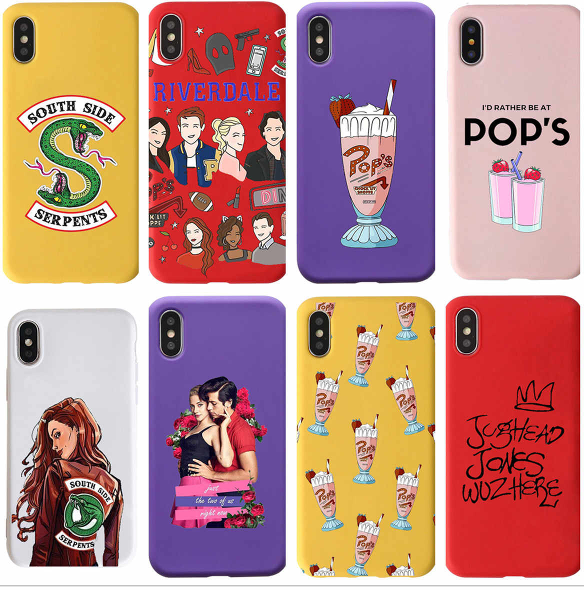 American TV Riverdale Jughead Jones style soft Silicone Cover Candy colors phone Case For iPhone 6 7 6s 8 8Plus X XR XS MAX