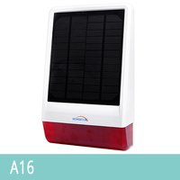HOMSECUR Solar Powered Waterproof Outdoor Strobe Siren A16 For Home Security Alarm System