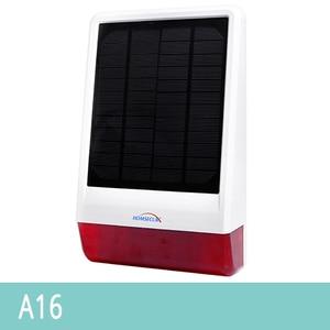 HOMSECUR Zonne-energie Waterdichte Outdoor Strobe Sirene A16 Voor Home Security Alarm Systeem