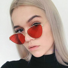 Retro Red Cat eye Sunglasses Women 2019 Brand Fashion Vintage Clear ocean lens Sun Glasses frame lentes gefas de sol mujer