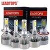 LEADTOPS COB LED Headlight H7 60W 6400LM All In One Car LED Headlights H4 H1 Bulb