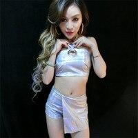 The New Bar Dj Female Singer Ds Costume Jazz Dance Clothing Nightclub Leather Dance Suit Suit Robot Costume PU Unique Clothing