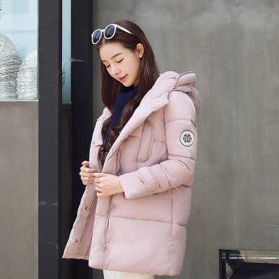 Winter Women Outerwear Fashion Warm Parka Solid Color Korean Style Hooded Coats Bread Wadded Down Cotton Jacket A4620 short section cotton coats winter bread clothing thickening keep warm jacket 2017new women fashion outerwear abrigos mujerlh097