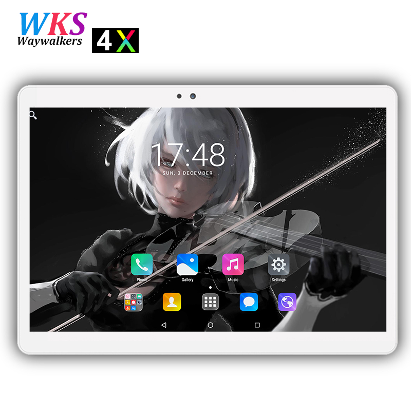2018 Più Nuovo 10 pollice 4G LTE Android 7.0 tablet pc 10 nucleo 1920*1200 HD IPS 4 GB di RAM 64 GB ROM wifi Bluetooth Smart tablets 10 10.1