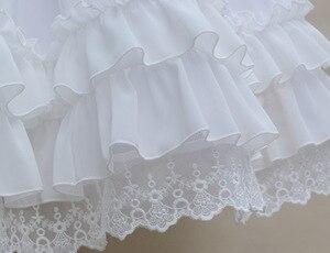 Image 3 - Sweet Lolita Chiffon Onder Rok Korte A lijn Cosplay Petticoat met Gelaagde Ruches